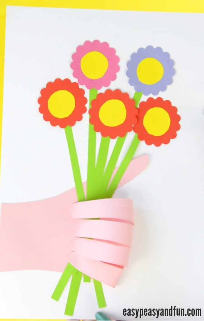 Handprint Flower Craft for Kids