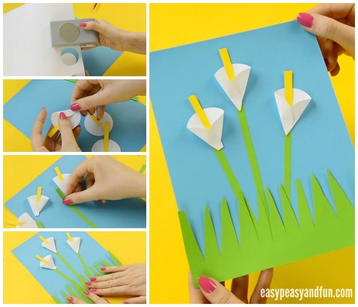 calla lily paper craft - flower craft ideas