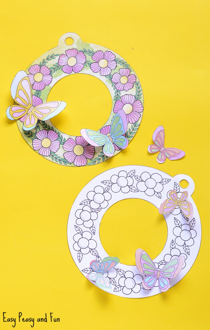 Lovely Printable Flower Wreaths