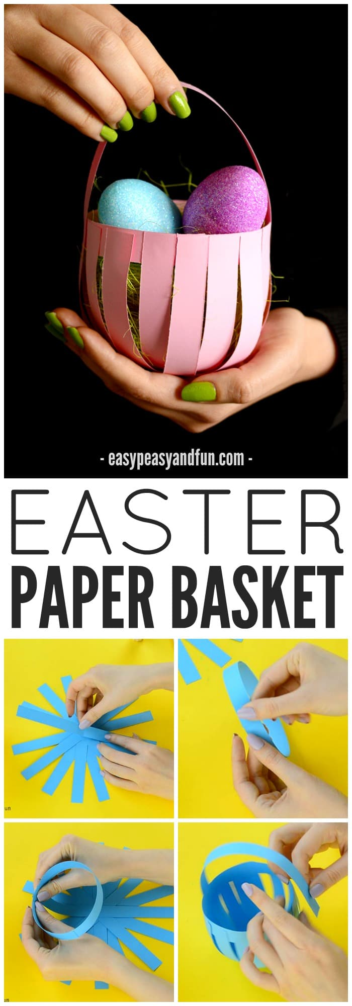 Make This Cute Paper Basket Craft