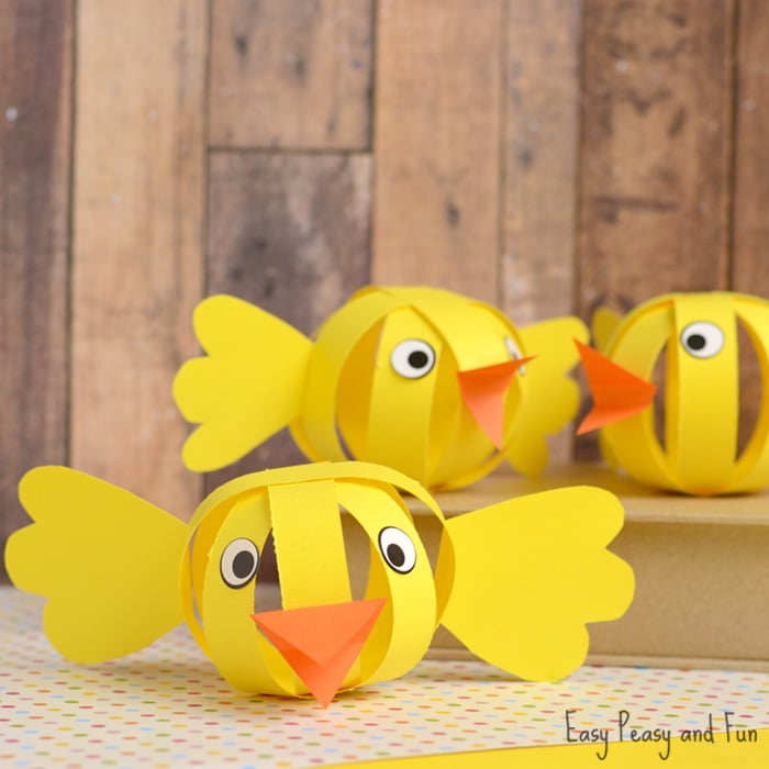 Kids Easter Craft Ideas Part - 37: Cute Paper Chicks U2013 Fun Construction Paper Easter Craft Idea
