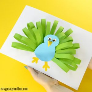 Paper Peacock Craft for kids