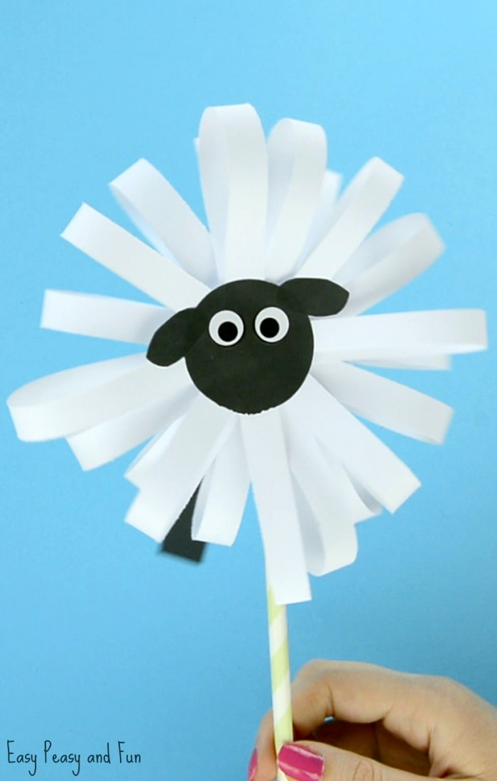 Paper Sheep Craft for Kids