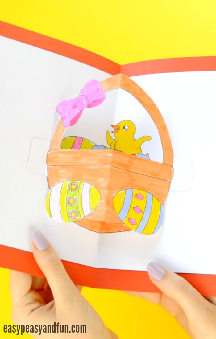Printable DIY Easter Pop Up Card