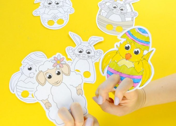 Easter Finger Puppets – Easter Craft Template