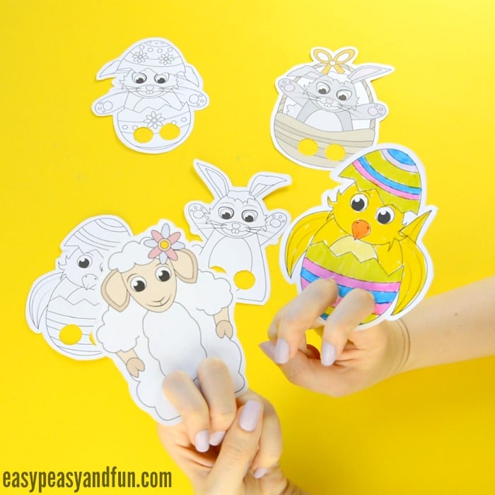 Easy Paper Finger Puppets Crafts