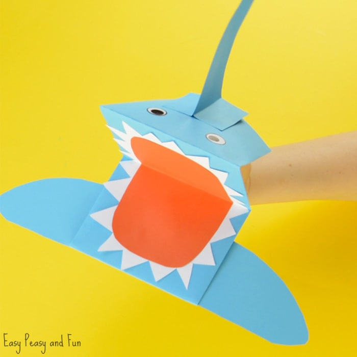 Shark Paper Hand Puppet Craft