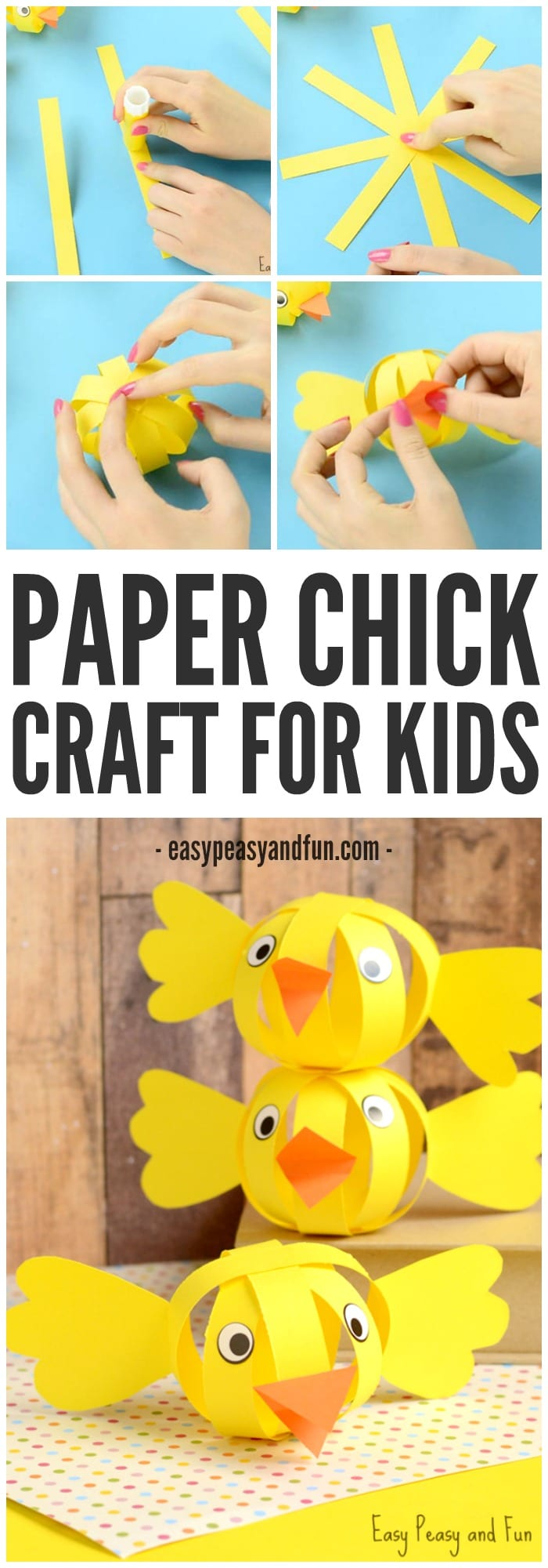 simple paper chick craft simple paper craft easter craft ideas easy peasy 5426