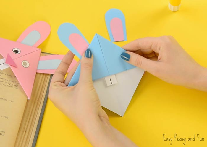 printable easter paper rings easter bunny corner bookmark diy origami for easy 5287