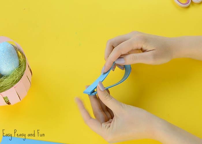 Diy Easter Paper Basket Craft Easy Peasy And Fun