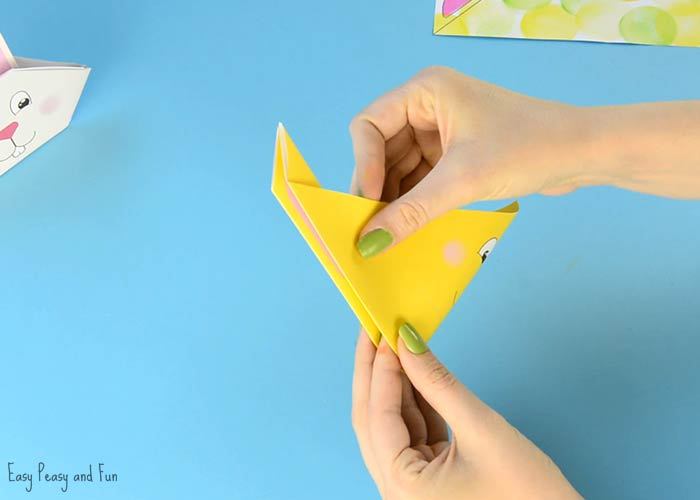 origami bunny tutorial with printable template easy