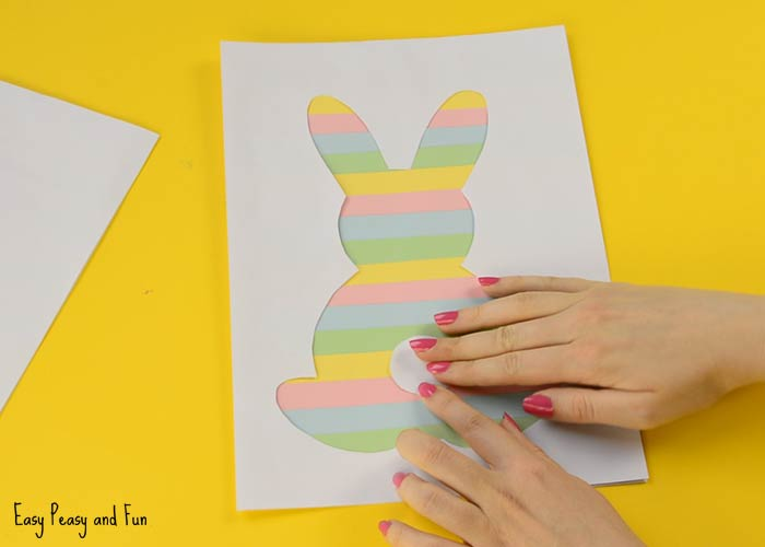 photo about Bunny Silhouette Printable referred to as Printable Easter Silhouette Craft - Easter Bunny Template