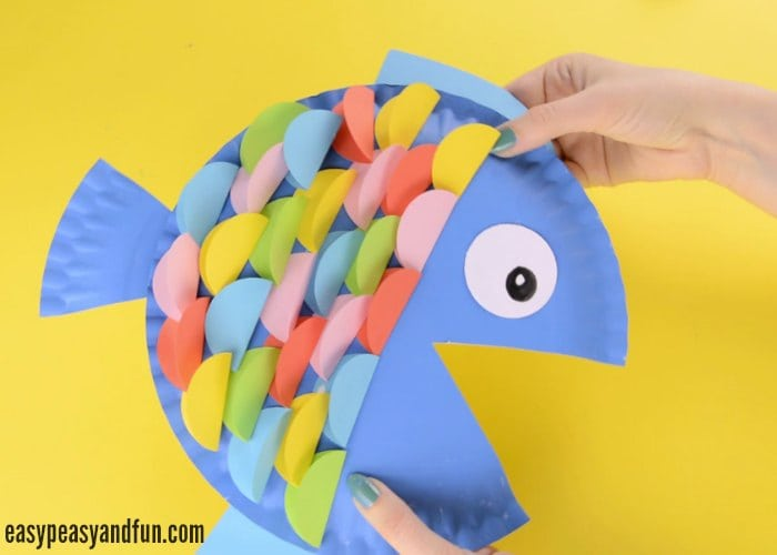 paper plate fish craft paper plate fish craft rainbow paper circles easy 5108