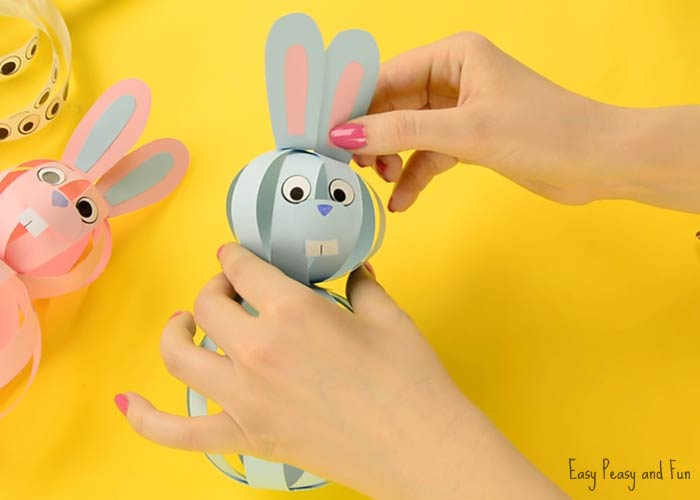 Easy paper bunny craft easter idea for kids easy peasy for Easy things to make out of paper for kids