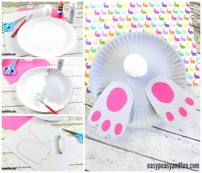 Adorable Bunny But Paper Plate Craft