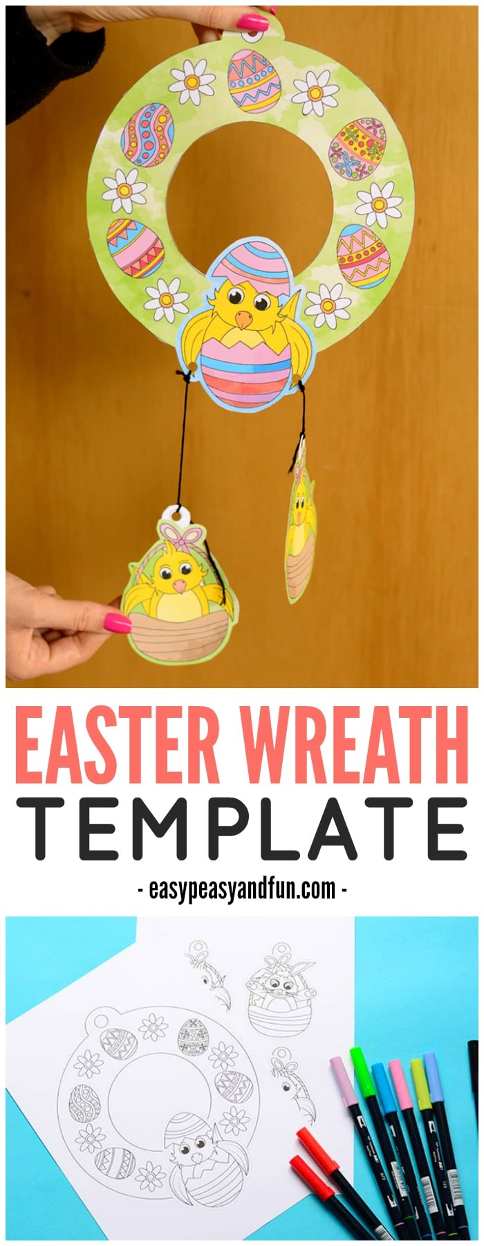 Adorable Printable Easter Wreaths