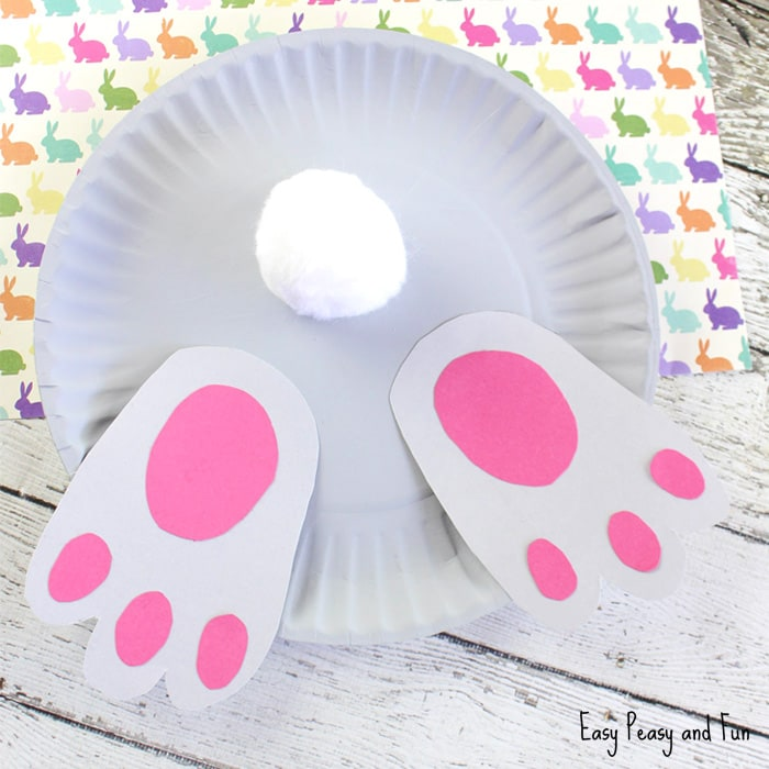 Bunny But Paper Plate Craft for Kids
