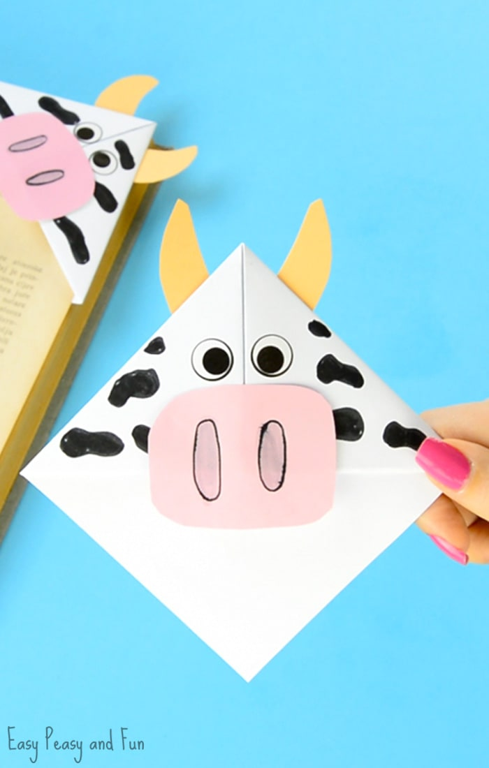 Cow Corner Bookmarks Craft for Kids