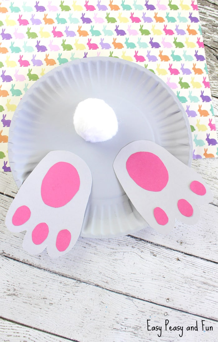 Bunny Butt Paper Plate Craft - Easy Peasy and Fun