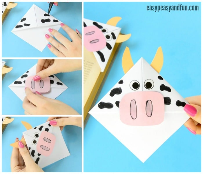 Cute Cow Corner Bookmarks