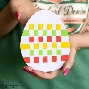 Easter Egg Paper Weaving