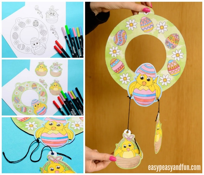 Cute Printable Easter Wreaths