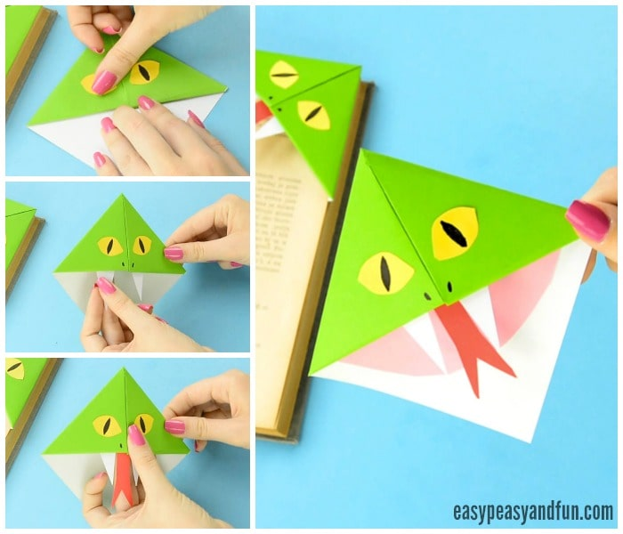 Cute Snake Corner Bookmarks Craft for Kids