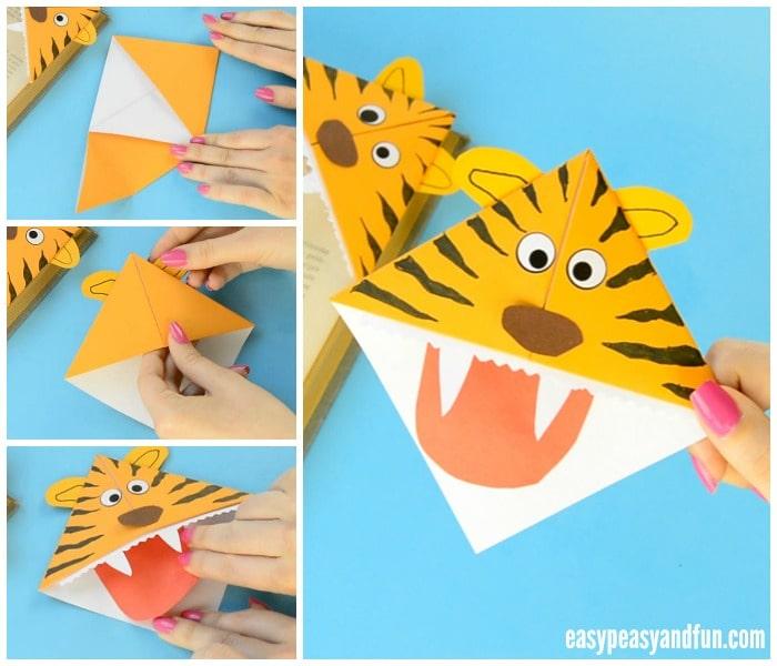 Cute Tiger Corner Bookmarks Craft