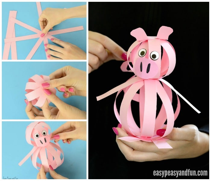 Cute and Easy Paper Pig Craft
