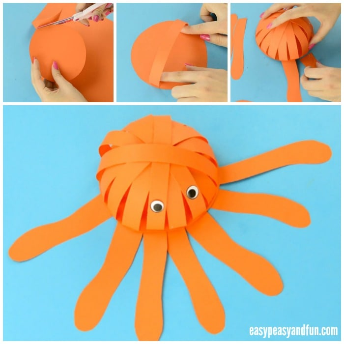 Simple Paper Octopus Craft for Kids to Make
