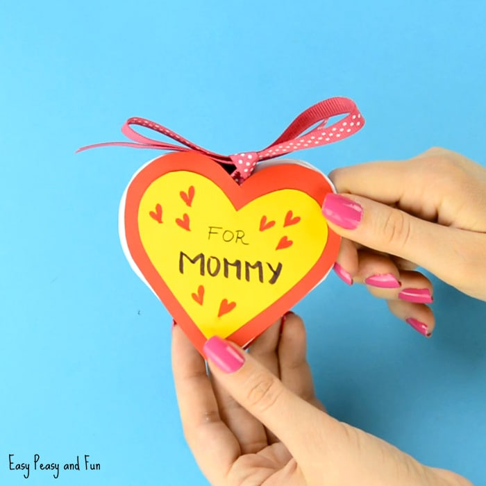 Mother S Day Heart Craft Card