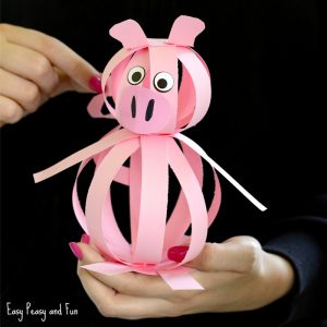 Easy Paper Pig Craft