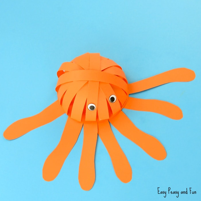 Simple Paper Octopus Craft for Kids