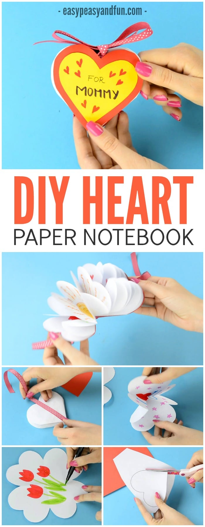 Lovely DIY Heart Notebook Craft for Kids to Make