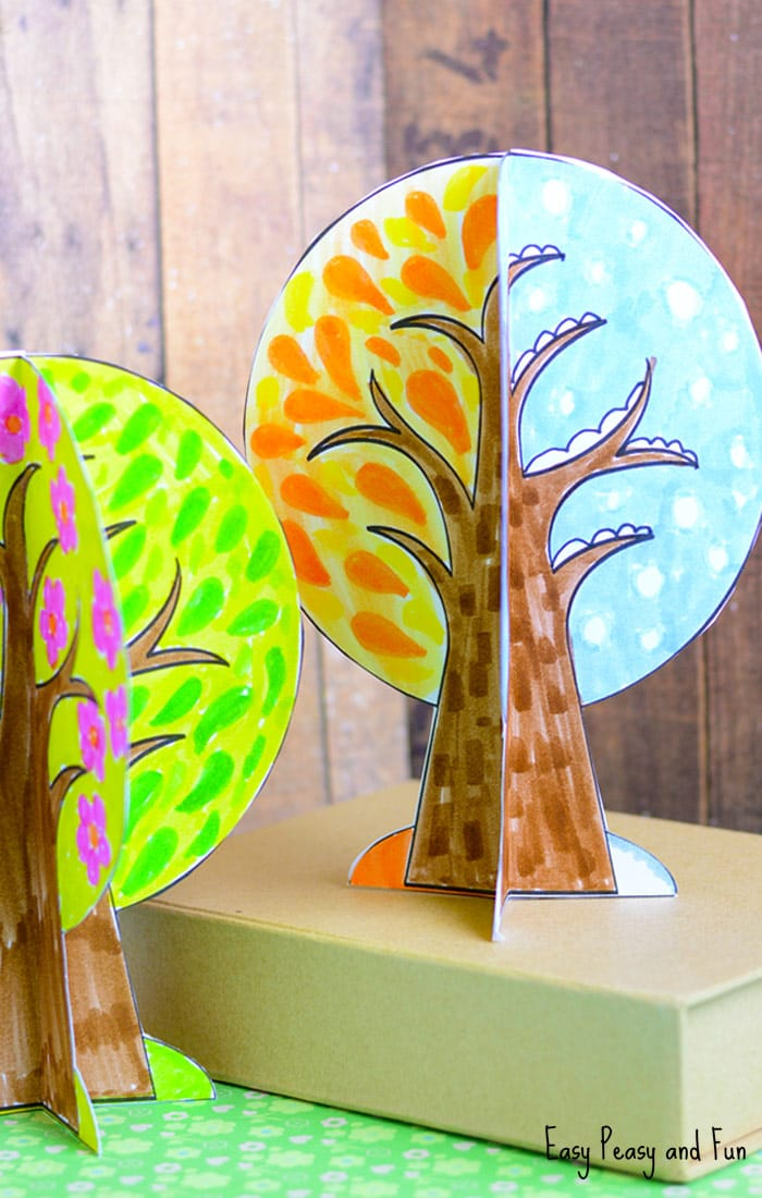Four Seasons Tree Craft With Template - Easy Peasy and Fun