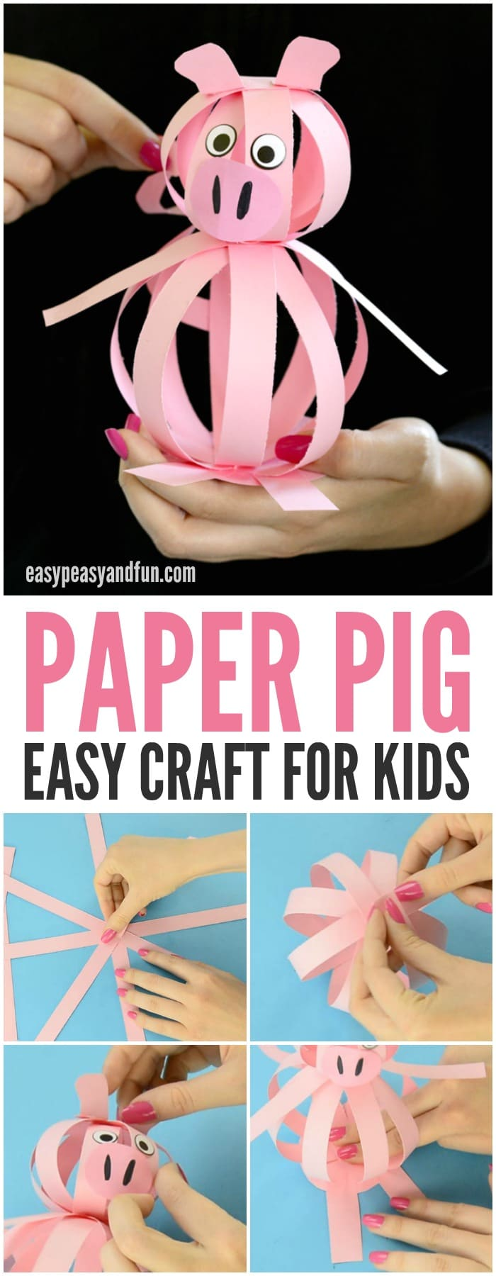 Make This Easy Paper Pig Craft