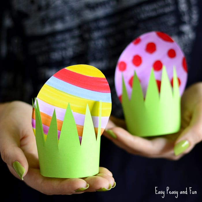 Paper Easter Egg Craft for Kids