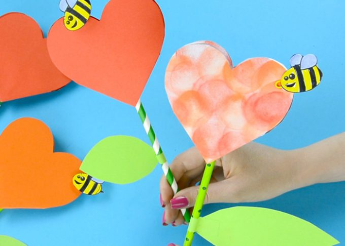 Www Easypeasyandfun Com Paper Heart Flower Craft