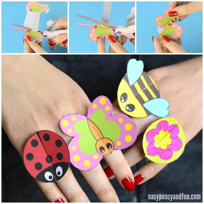 Printable Bug Paper Rings for Kids