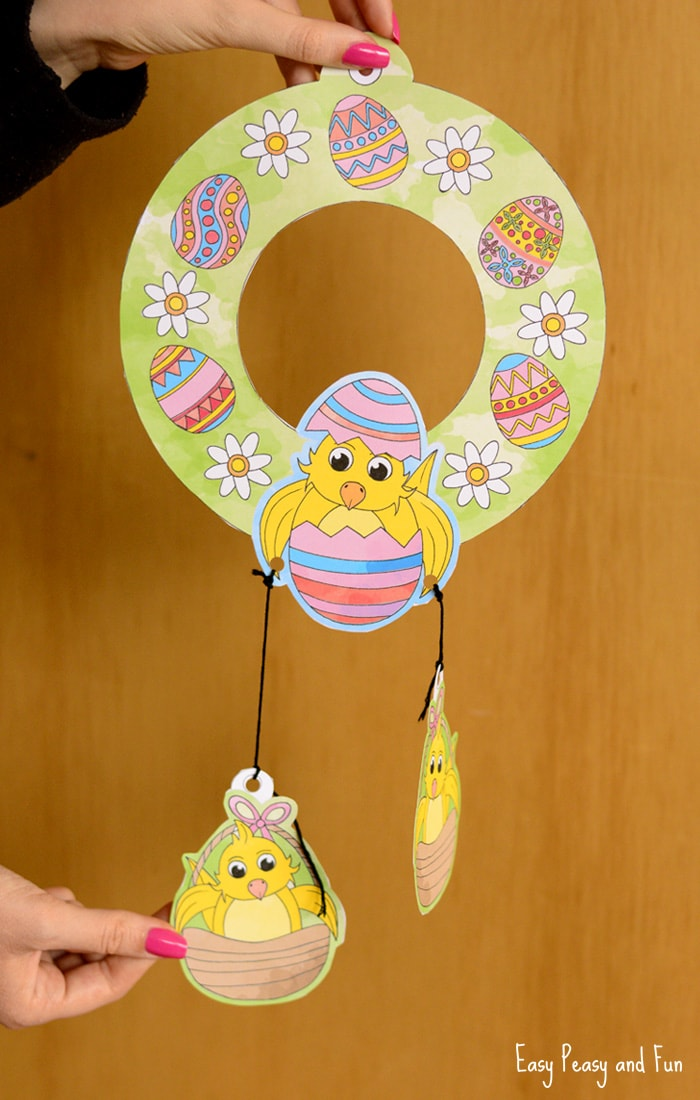 Printable Easter Wreaths Craft