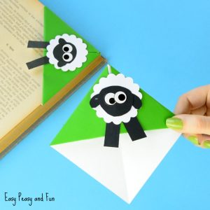 Sheep Corner Bookmark Craft