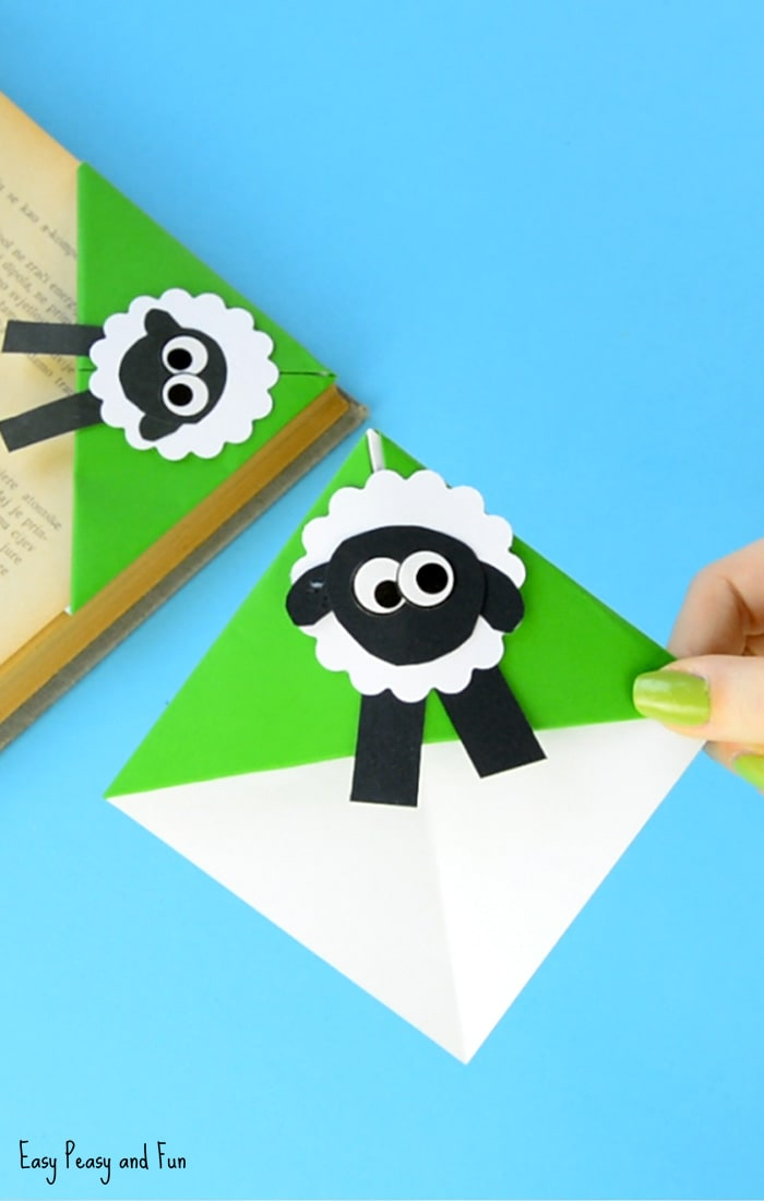 Sheep Corner Bookmark Craft for Kids