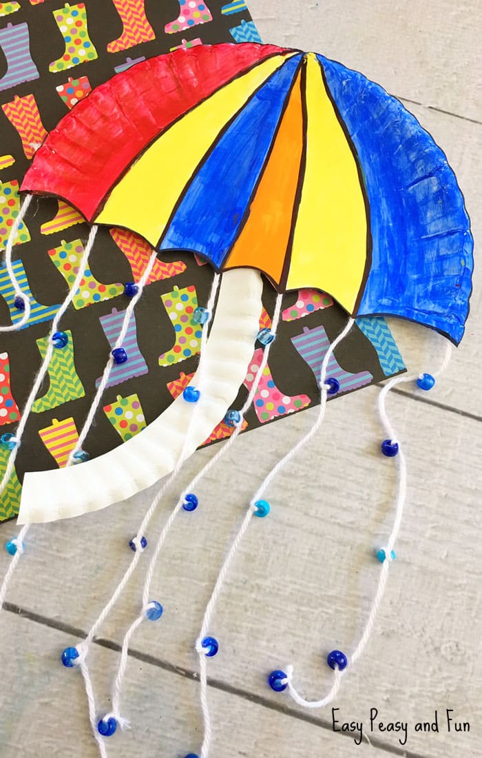 Umbrella Paper Plate Craft