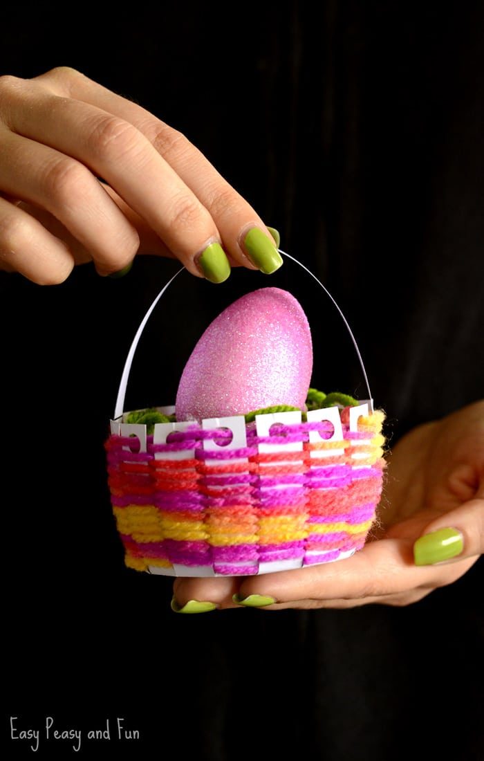 Woven Easter Basket Craft for Kids