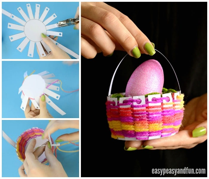 Woven Printable Easter Basket Craft