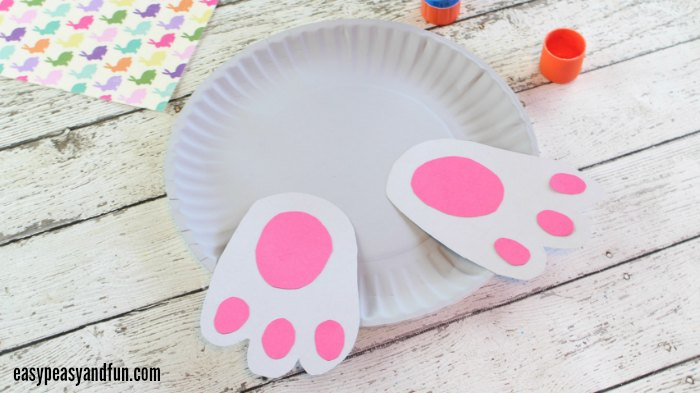 bunny butt paper plate craft bunny paper plate craft easy peasy and 5963