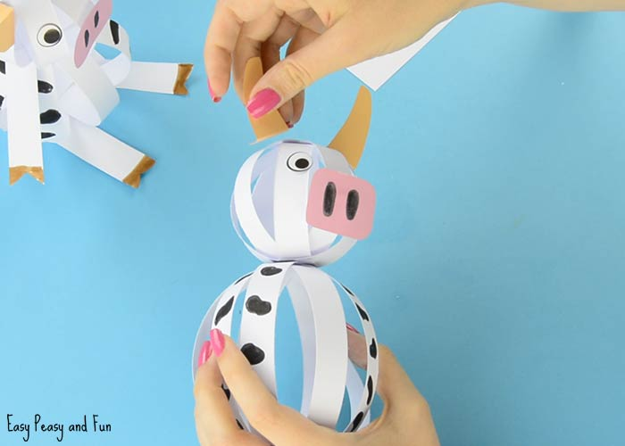 Your Easy Paper Cow Craft Is Starting To Look Nice
