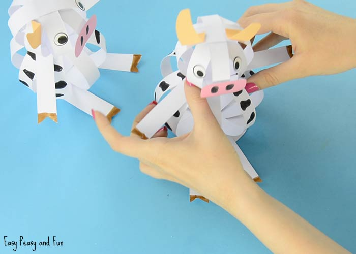 You Have Made An Adorable And Easy Paper Cow Craft