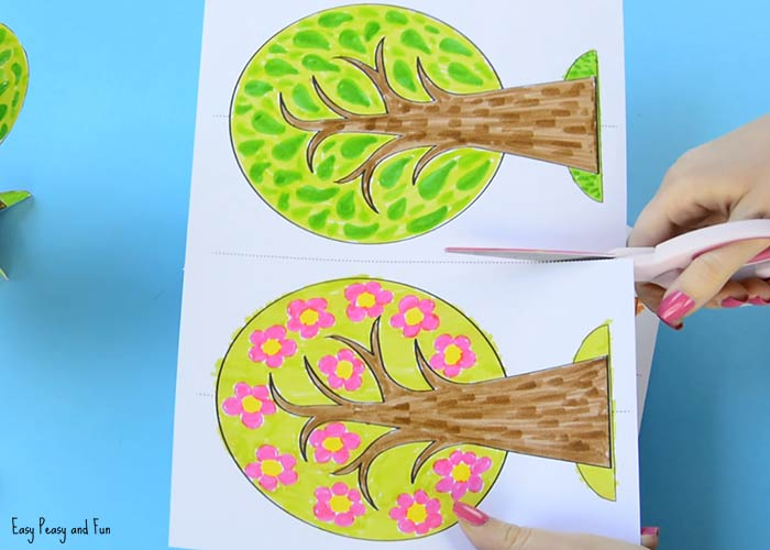 seasons craft ideas four seasons tree craft with template easy peasy and 2899