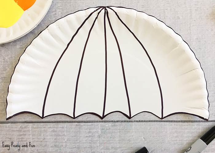 Umbrella Paper Plate Craft Weather Crafts For Kids